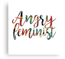 Angry Feminist Canvas Print