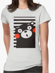 Japan Anime Kumamon Bear Animal Womens Fitted T-Shirt