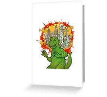 T Rex dreams Greeting Card
