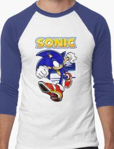 Run Sonic Run Men's Baseball ¾ T-Shirt