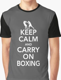 Keep Calm & Carry On Boxing Graphic T-Shirt