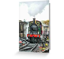 Engine 263 steaming Greeting Card