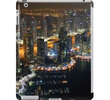Photography of tall buildings, skyscrapers from Dubai at night. United Arab Emirates. iPad Case/Skin