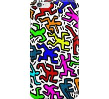 wall collour keith haring iPhone Case/Skin