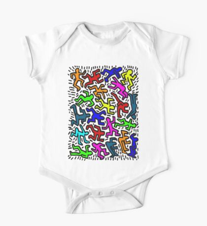 wall collour keith haring One Piece - Short Sleeve