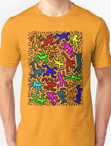 wall collour keith haring Unisex T-Shirt