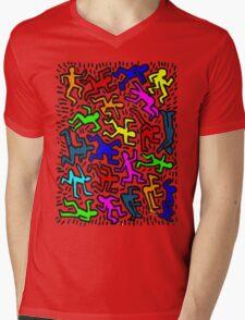 wall collour keith haring Mens V-Neck T-Shirt