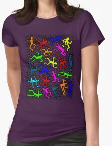 wall collour keith haring Womens Fitted T-Shirt