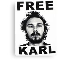 Free Karl - Workaholics Canvas Print