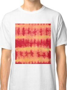 tye n dye vertical n horizontal lines by fan folding  print Classic T-Shirt