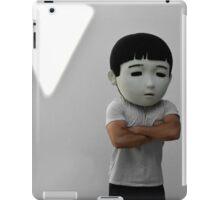 Sad Japanese man. Puppet head. iPad Case/Skin