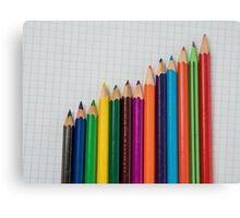 colored pencils closeup  Canvas Print
