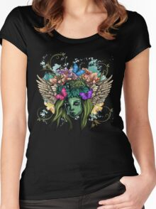 Vector girl Women's Fitted Scoop T-Shirt