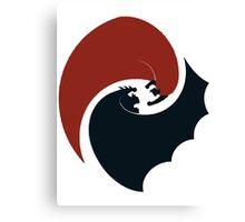 batman vs superman yin yang logo Canvas Print