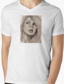 face  Mens V-Neck T-Shirt