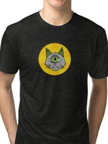 Illuminati Cyclops Money Cat, alone! Tri-blend T-Shirt