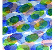Green Blue Red Ovals Photographic Print