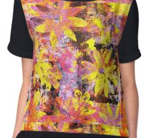 Flower in Black Square 13- Digitally Altered Print  Chiffon Top