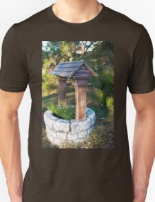 Decorative stone well in the park Unisex T-Shirt