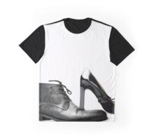 fashionable male and female shoes  Graphic T-Shirt