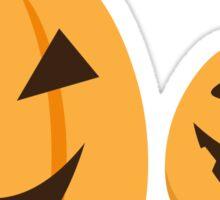 Jack o lantern Halloween pumpkins sticker Sticker