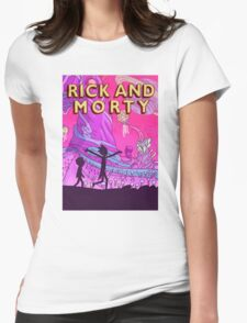 Rick and Morty Adventure Womens Fitted T-Shirt