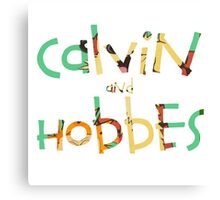 calvin and hobbes font Canvas Print