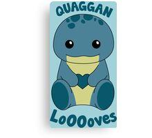 Guild Wars 2 - Quaggan LoOOoves you! Canvas Print