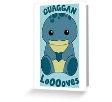 Guild Wars 2 - Quaggan LoOOoves you! Greeting Card