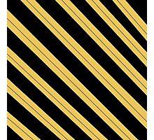 Simple hufflepuff design - Stripes Photographic Print