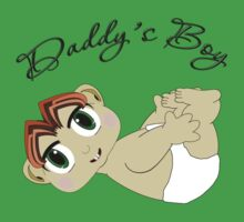 Daddy's Boy Red Hair and Green Eyes Baby Tee