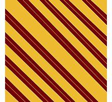 Simple gryffindor design - stripes Photographic Print