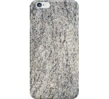 Flat surface of a gray granite stone iPhone Case/Skin