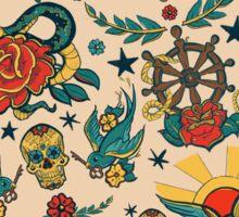 Punk Tattoo Pattern Design and Illustration Sticker
