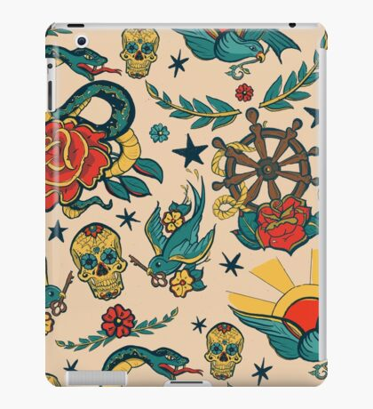 Punk Tattoo Pattern Design and Illustration iPad Case/Skin
