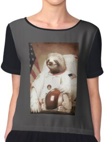 Spaceman Sloth Astronaut Chiffon Top