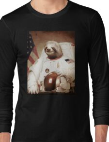 Spaceman Sloth Astronaut Long Sleeve T-Shirt