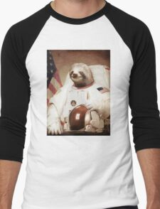 Spaceman Sloth Astronaut Men's Baseball ¾ T-Shirt