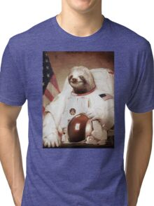 Spaceman Sloth Astronaut Tri-blend T-Shirt