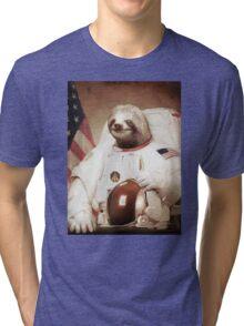 Spaceman Sloth Astronaut Tri-blend T-Shirt