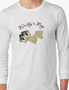 Daddy's Boy Black Hair and Brown Eyes2 Long Sleeve T-Shirt