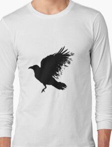 Crow - flying crow Long Sleeve T-Shirt