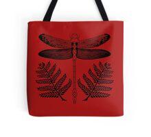 Dragonfly Fern Print Tote Bag