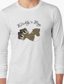Daddy's Boy Black Hair and Brown Eyes Long Sleeve T-Shirt