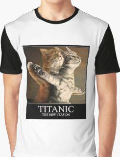 Titanic Cats Graphic T-Shirt