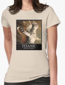 Titanic Cats Womens Fitted T-Shirt