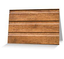 Plastic coating that mimics the natural wood Greeting Card