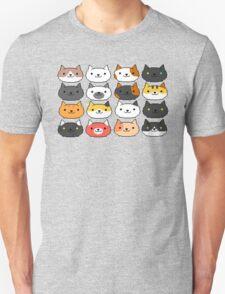 Neko Atsume Cute Pixel Cat Faces Unisex T-Shirt