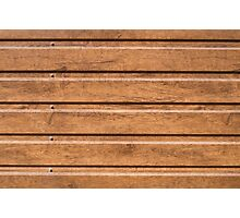 Brown siding that mimics the natural wood Photographic Print