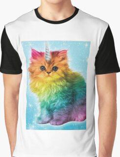 Unicorn Rainbow Cat Kitten Graphic T-Shirt